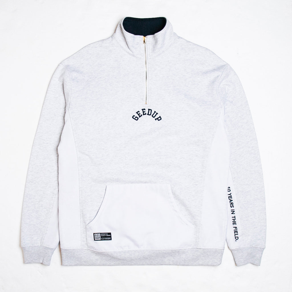 OS College Logo Qtr Zip Light Grey