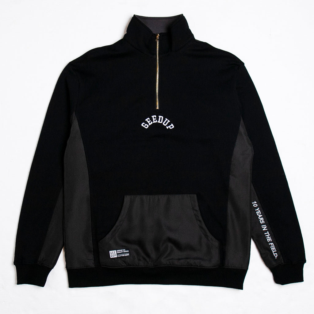 OS College Logo Qtr Zip Black