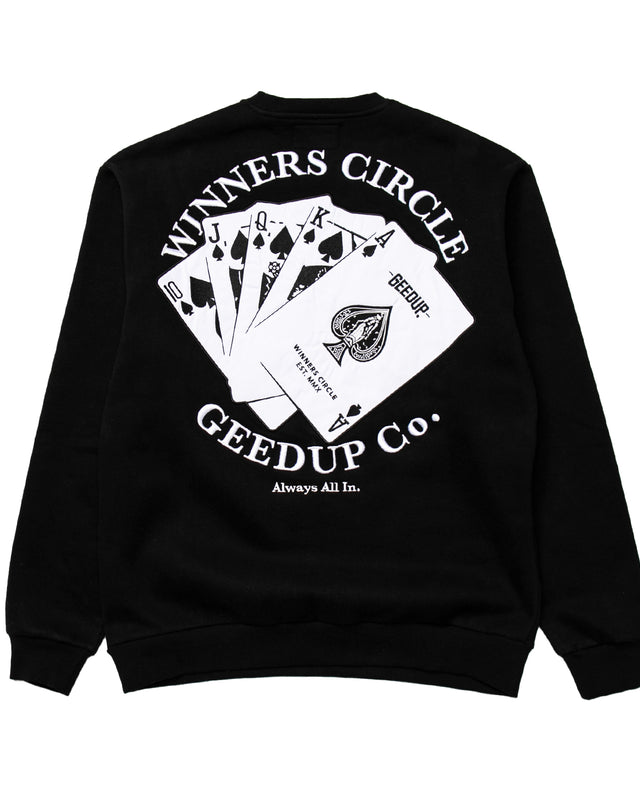 Winners Circle Crewneck Black
