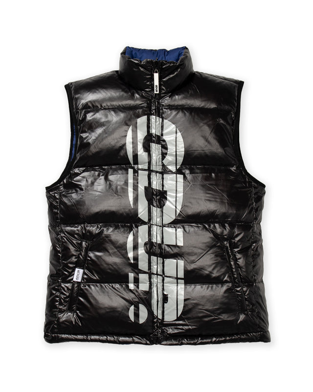 Reversible Duck Down Vest Black/Navy (Sportsman/Core Logo)