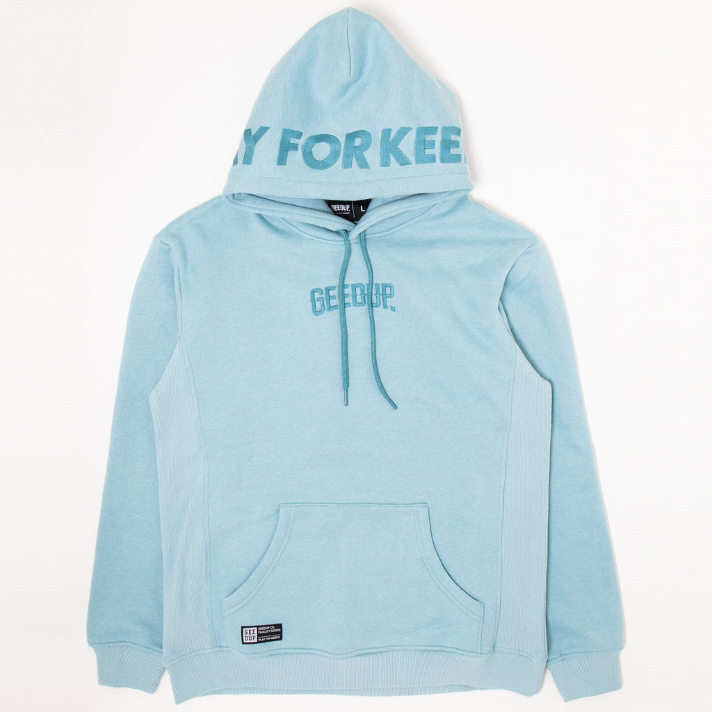 PLAY FOR KEEPS Hoody Ice Blue