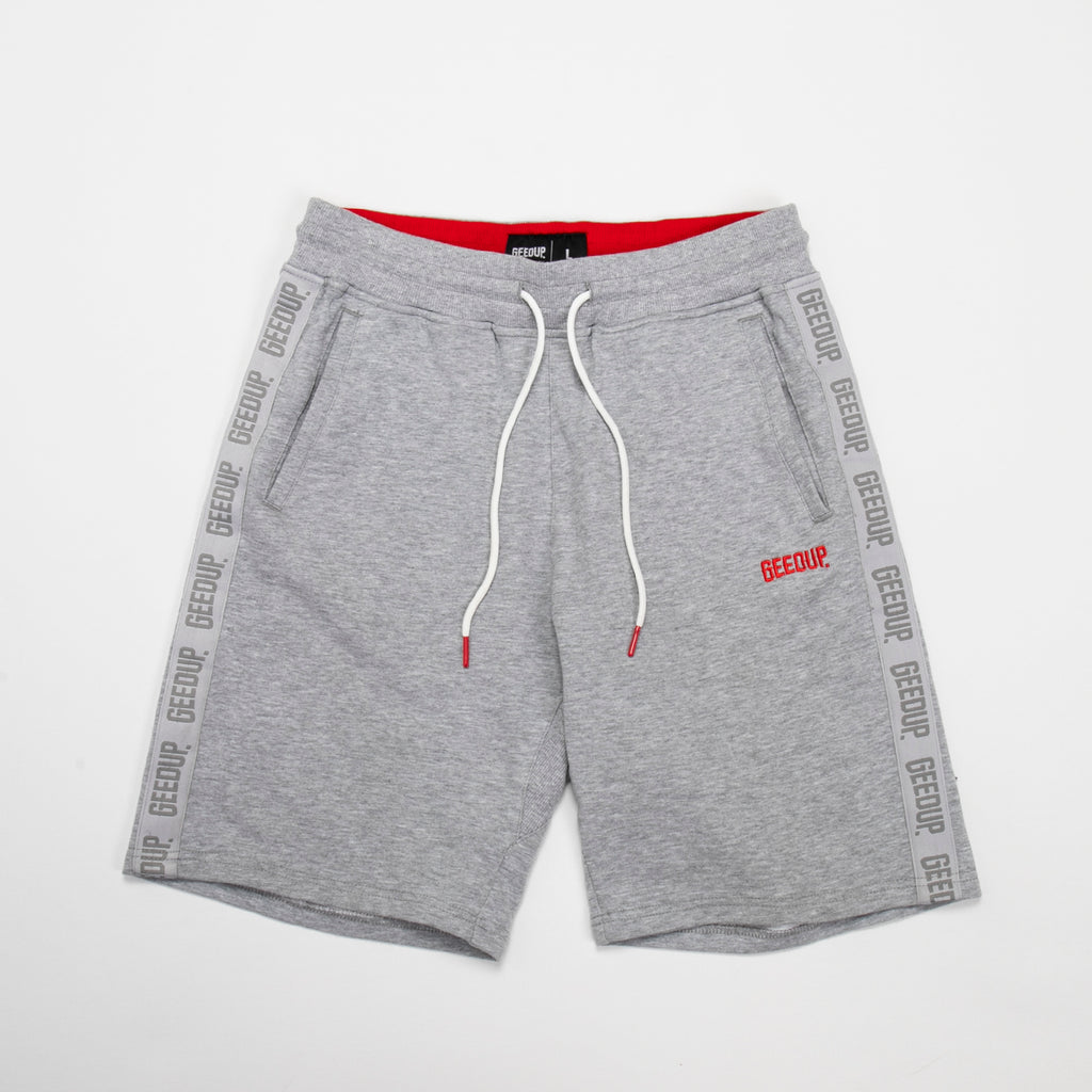 Core Logo Tape Walk Shorts Grey