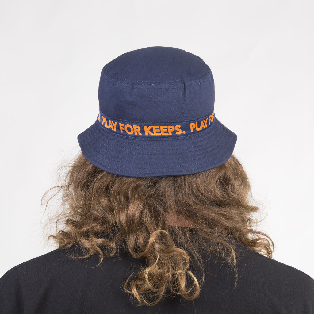 PFK Tape Bucket Hat - Navy/Orange (Reversible)
