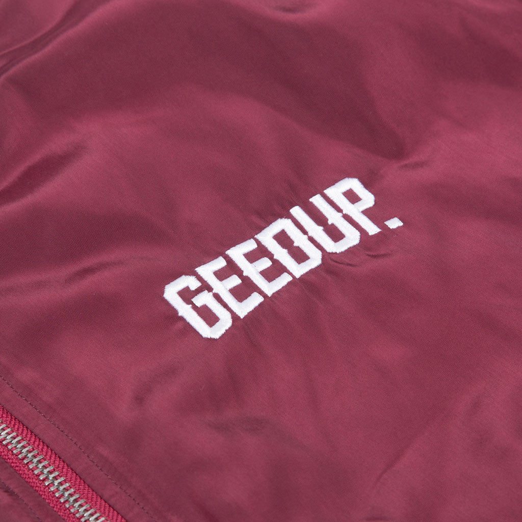 Neighbourhood Bomber Jacket Maroon
