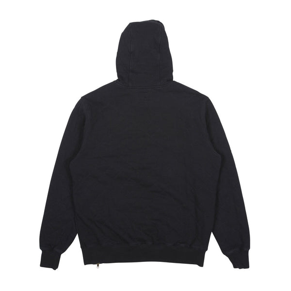 Quilted Team Pullover Hood Black