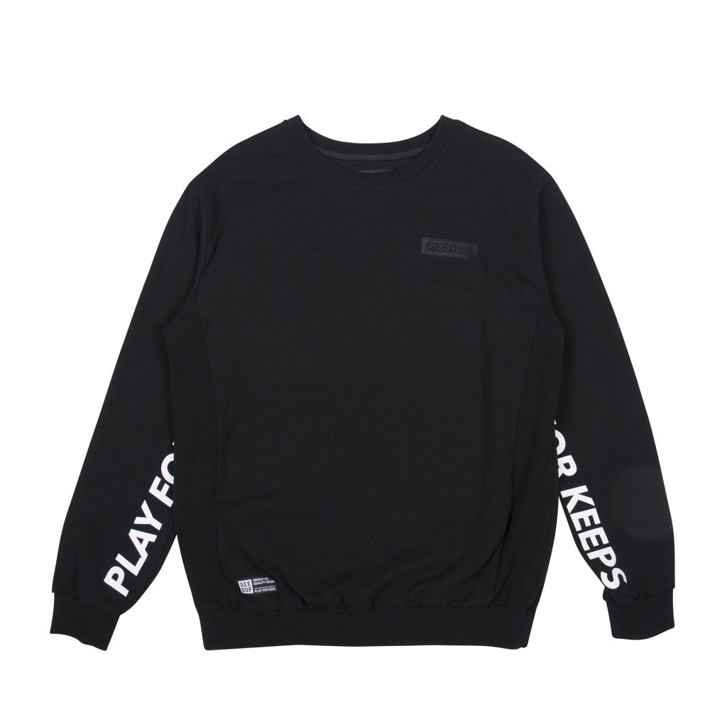 Play For Keeps Crewneck Black