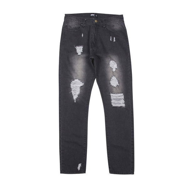 Geedup Stress Denim Jeans Wash Black