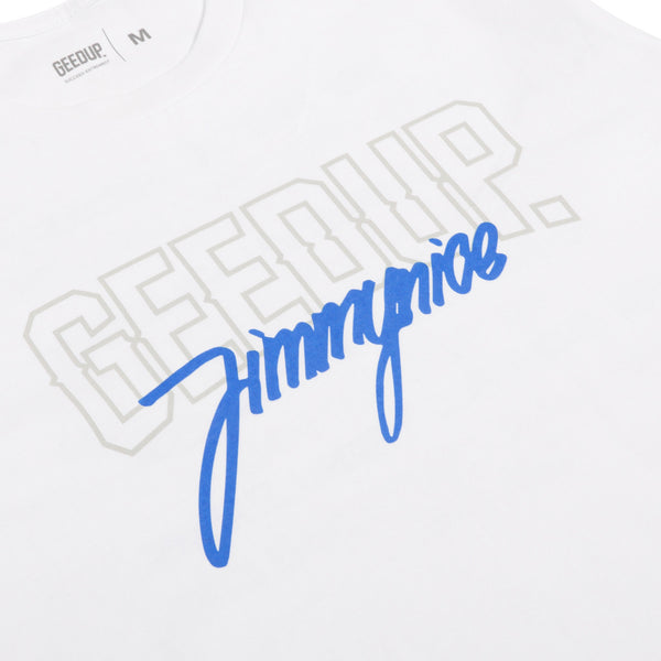 Jimmy Nice x Geedup Co. Tee - White