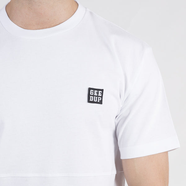Box Badge Tee - White