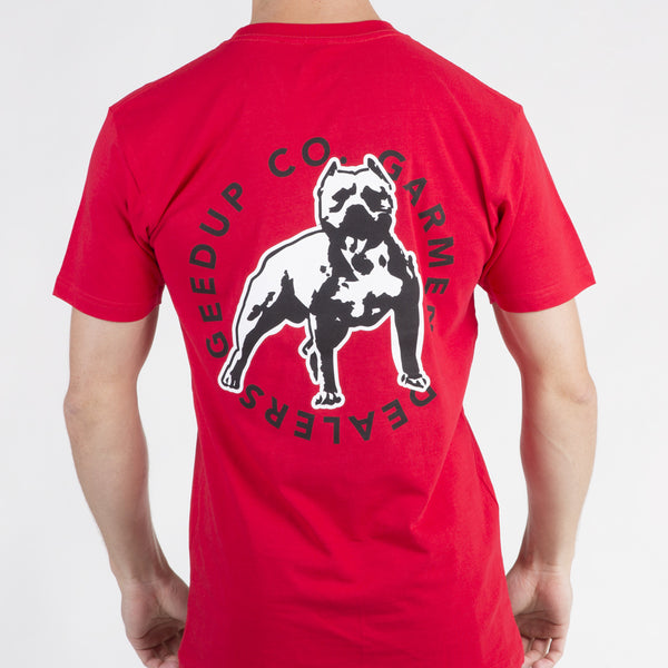 Amstaff Badge Tee - Red