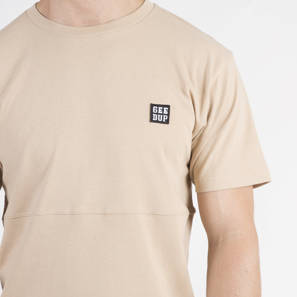 Box Badge Tee - Tan