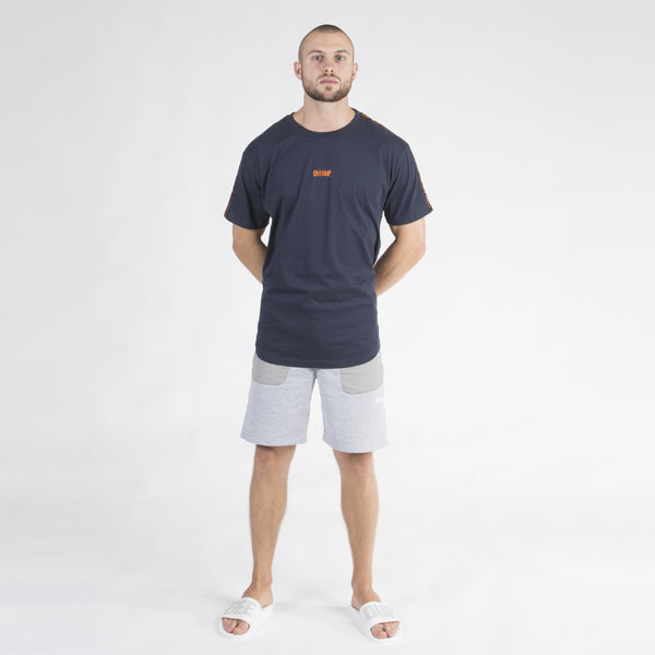 PFK Tape Tee - Navy/Orange