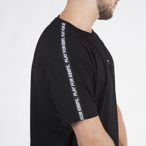 PFK Tape Tee - Black/White