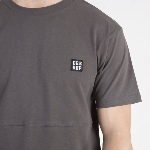 Box Badge Tee - Gunmetal
