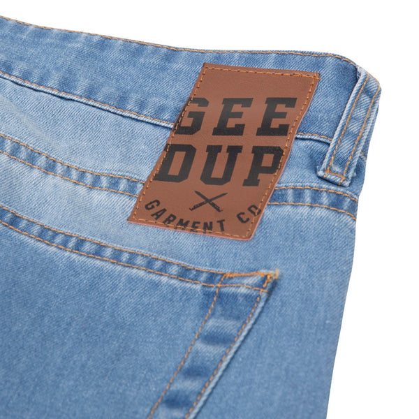Geedup Stress Denim Jeans Wash Blue