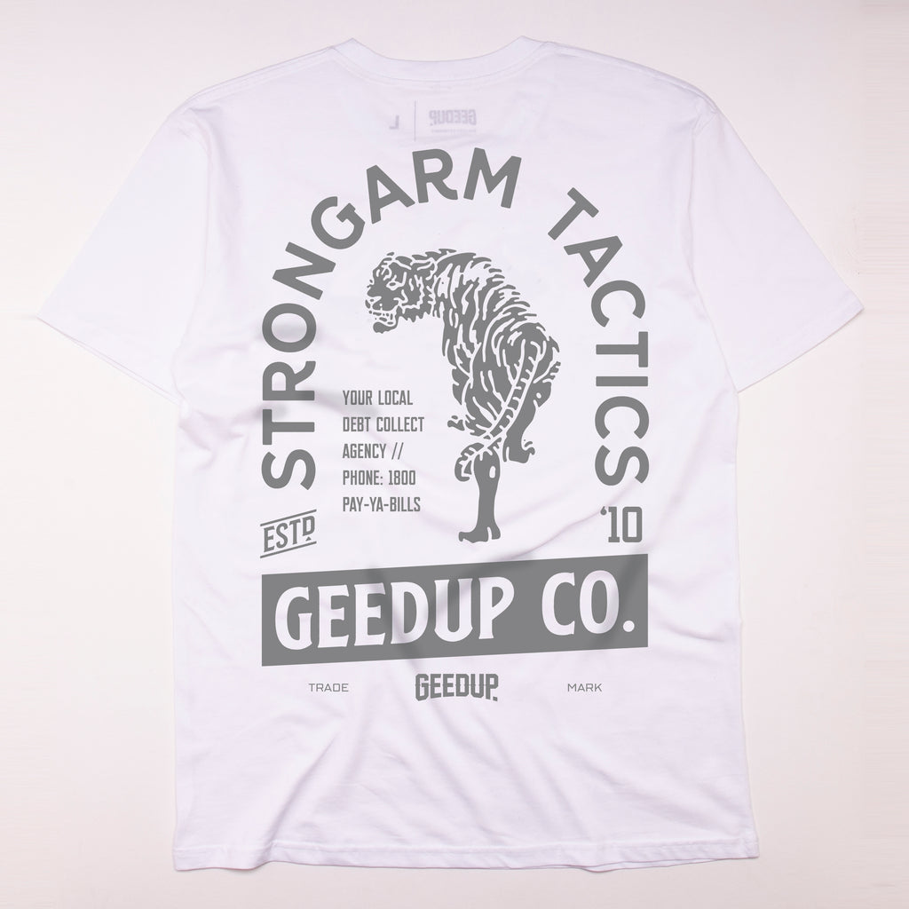 Strongarm Tactics Tee White