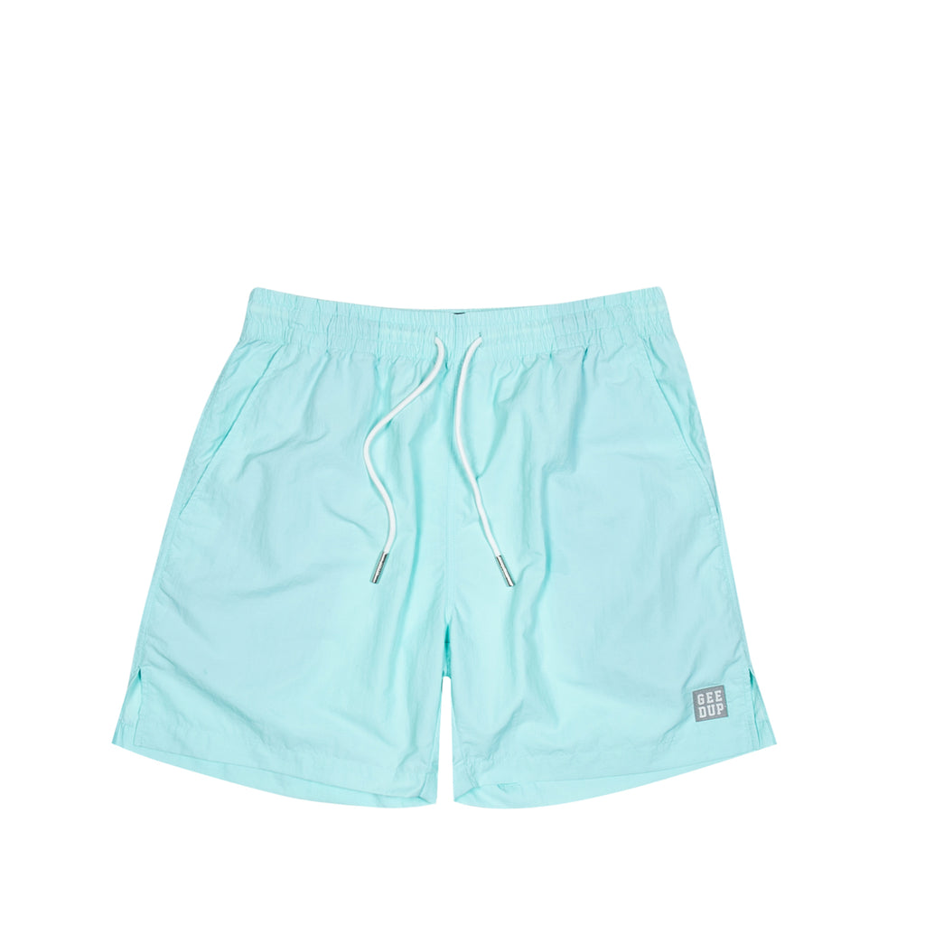 Box Logo Casual Shorts Teal
