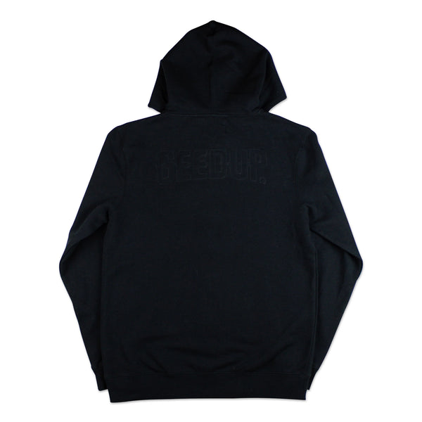 Double Core Zip Hood Black