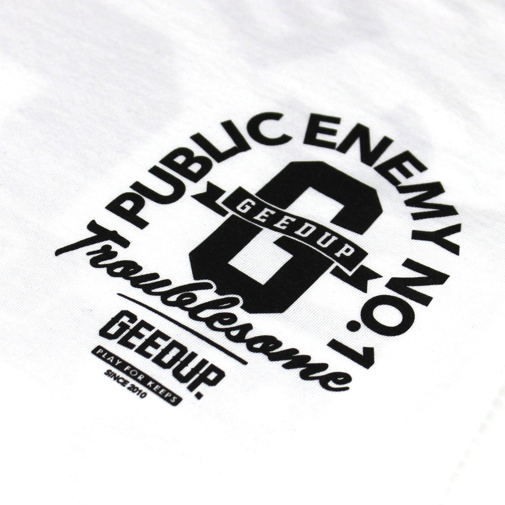 Public Enemy Tank Top White