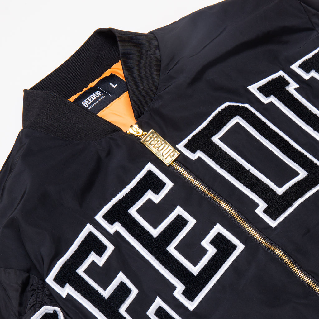 Team Logo Bomber Jacket Black