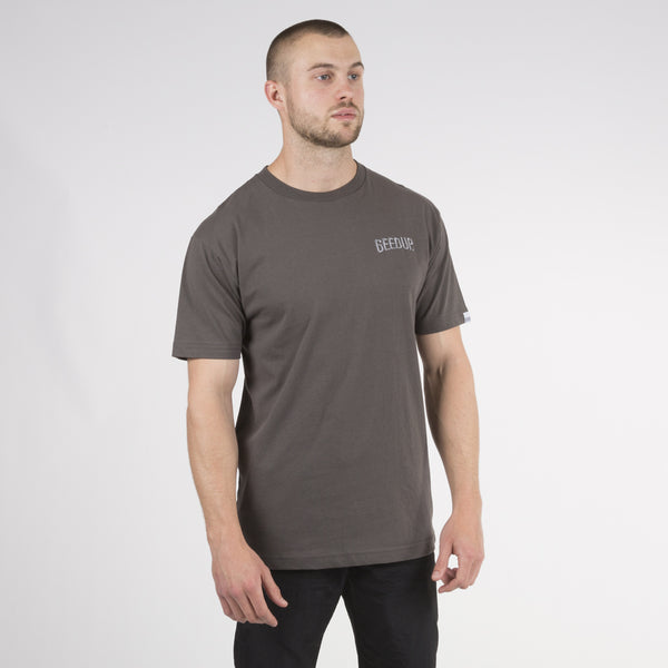 Core Embroidered Tee - Gunmetal