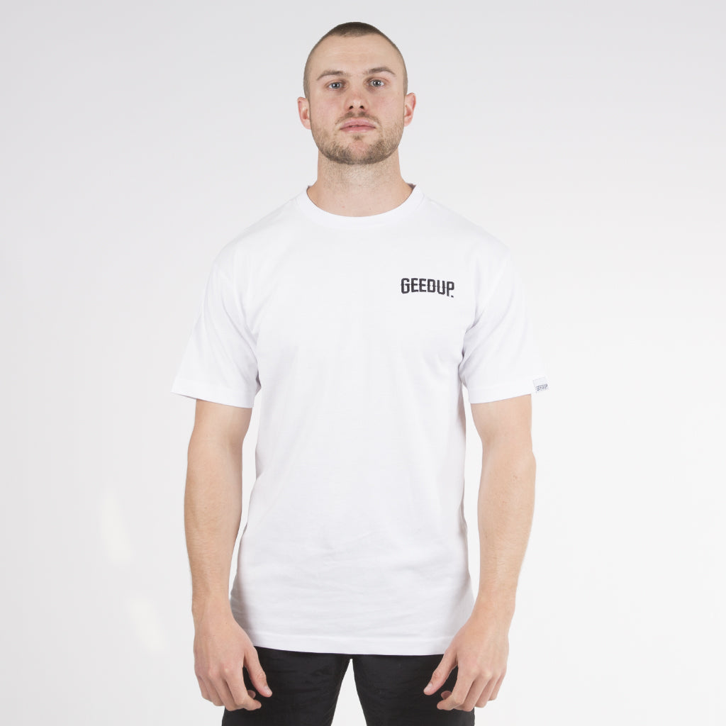 Core Embroidered Tee - White