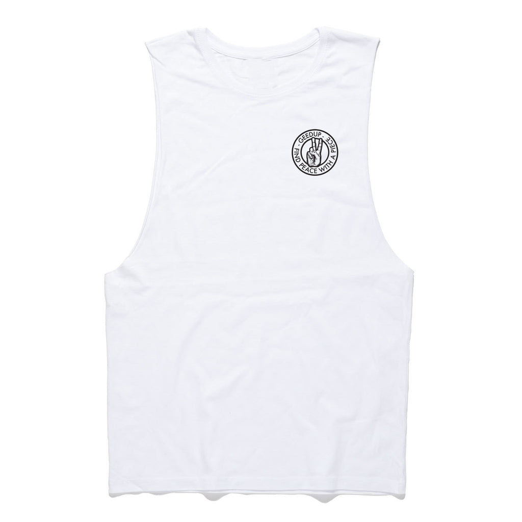Peace With A Piece Tank White