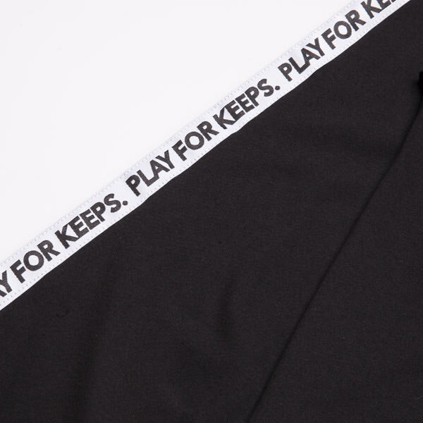 PLAY FOR KEEPS L/S TAPE TEE - Black/White