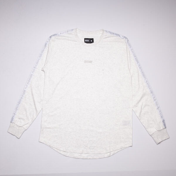 PLAY FOR KEEPS L/S TAPE TEE - Grey/White