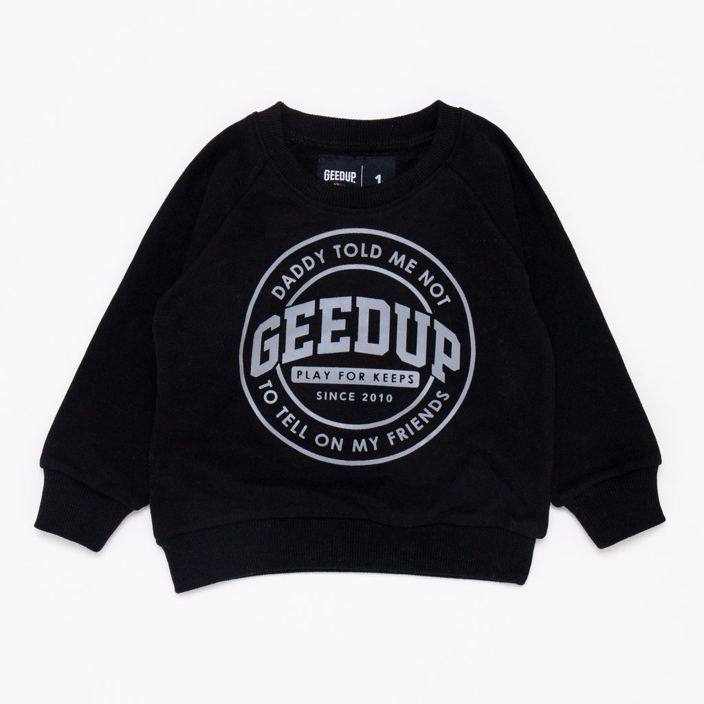 Kids Emblem Crewneck Black