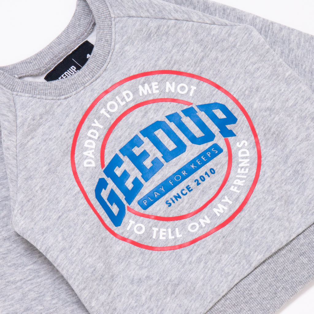 Kids Emblem Crewneck Grey