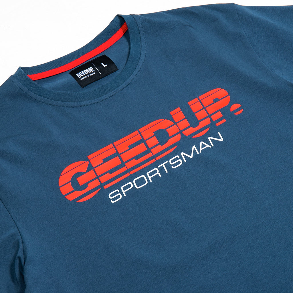 O/S Sportsman Tee Steel Blue