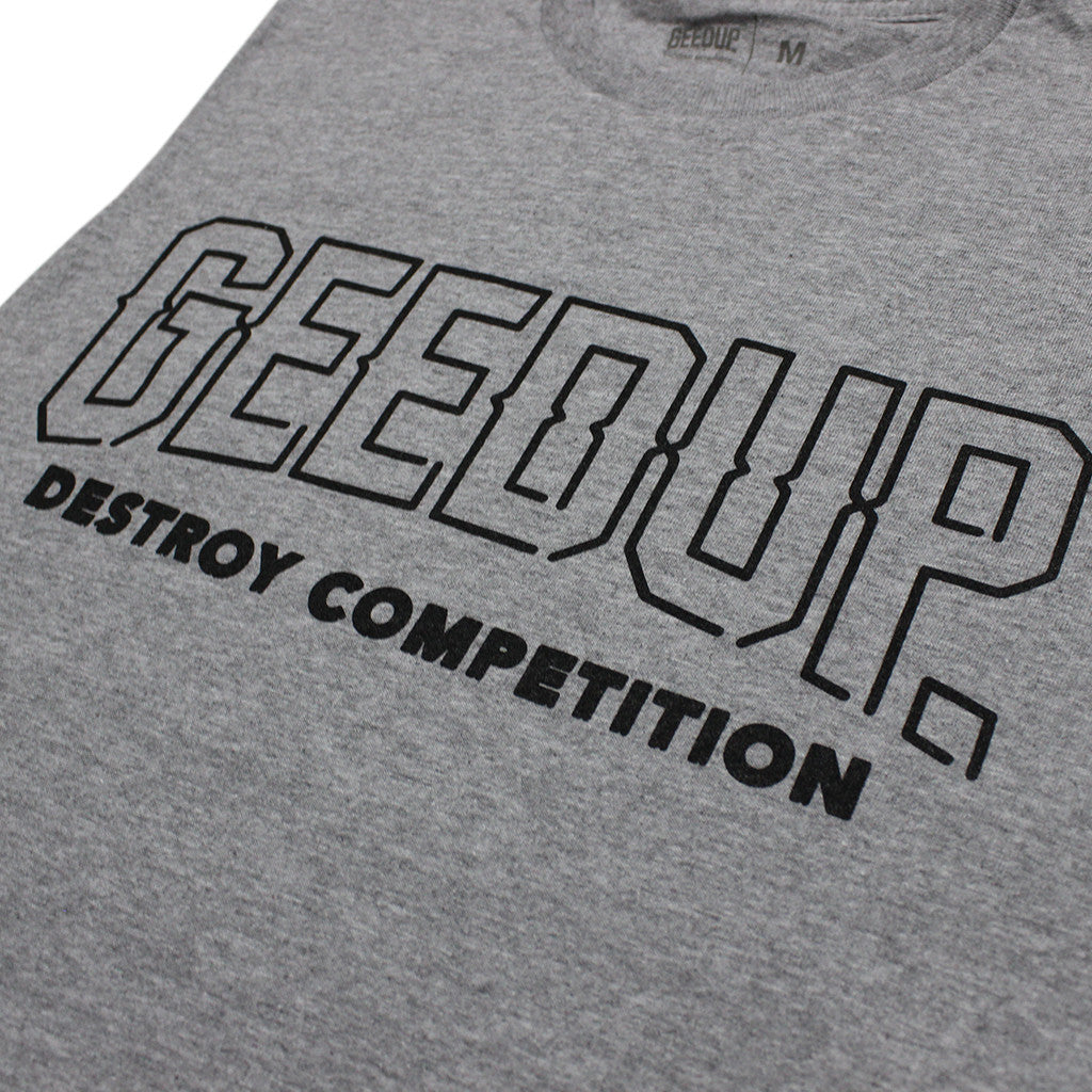 Geedup Destroy Competition Tank Top Grey