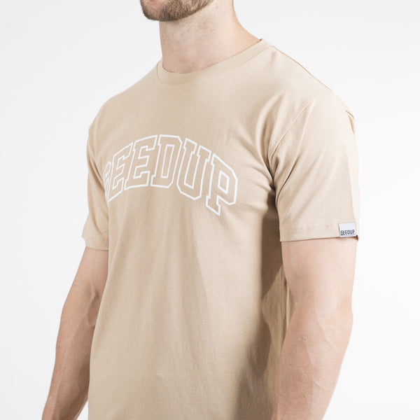 Team Logo Tee - Tan