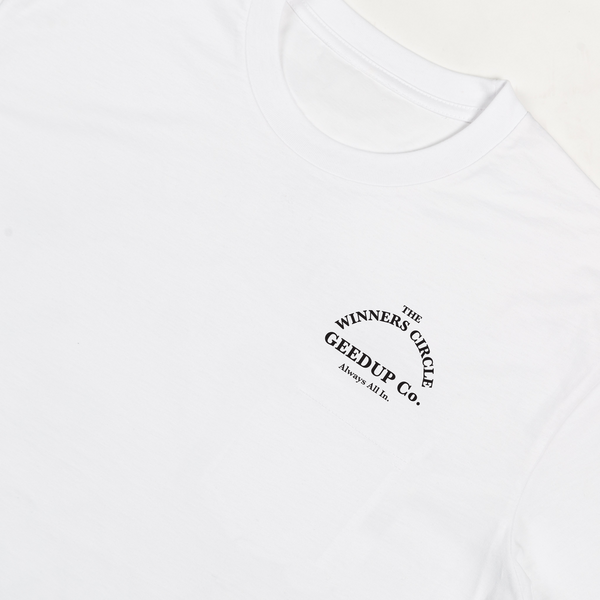 Winners Circle Tee - White