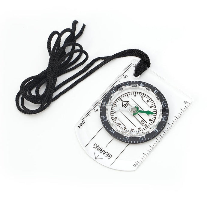 Hot All in 1 Outdoor Hiking Camping Baseplate Compass Map MM INCH Measure Ruler Z11 Drop ship