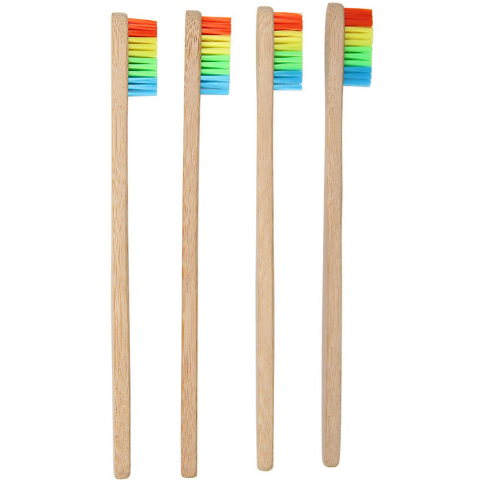 Environment Bamboo Toothbrush Wholesale Wooden Rainbow Bamboo Toothbrush Oral Care Soft Bristle