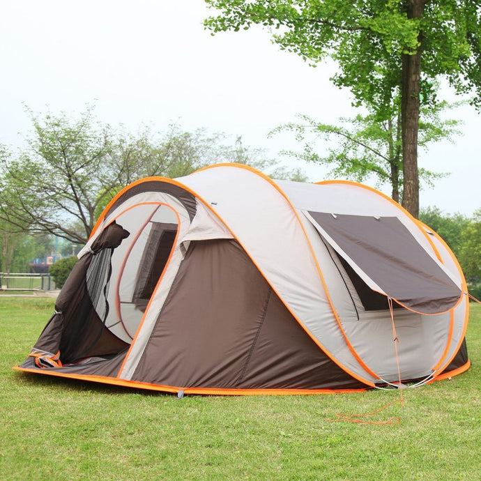 outdoor 3-4persons automatic speed open throwing pop up windproof waterproof beach camping tent large space free shipping