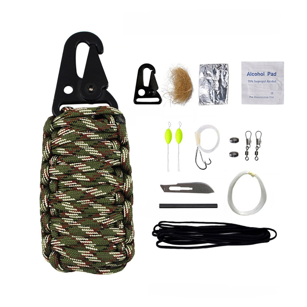 12Pcs Multifunctional Outdoor Travel Life Saving Kit Life Preserving Bag Emergency Rescue Survival Kit