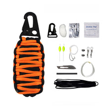 Load image into Gallery viewer, 12Pcs Multifunctional Outdoor Travel Life Saving Kit Life Preserving Bag Emergency Rescue Survival Kit
