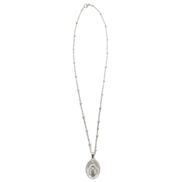 Silver Dainty Virgin Mary Necklace