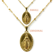 Gold Dainty Virgin Mary Necklace (Small)