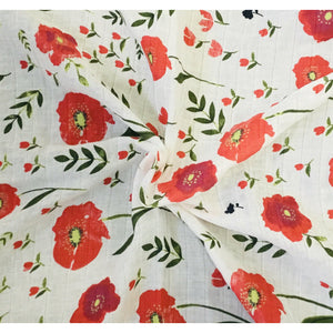 Field of poppies - swaddle set