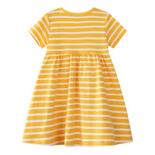 Load image into Gallery viewer, Little Birdie Dress Yellow 2-5yo