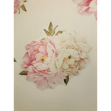 Load image into Gallery viewer, Peony & Rose White and Dusty Pink Wall Decal