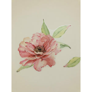 Peony & Rose Dusty Pink Wall Decals