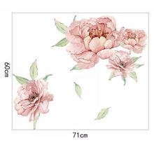 Load image into Gallery viewer, Peony & Rose Dusty Pink Wall Decals