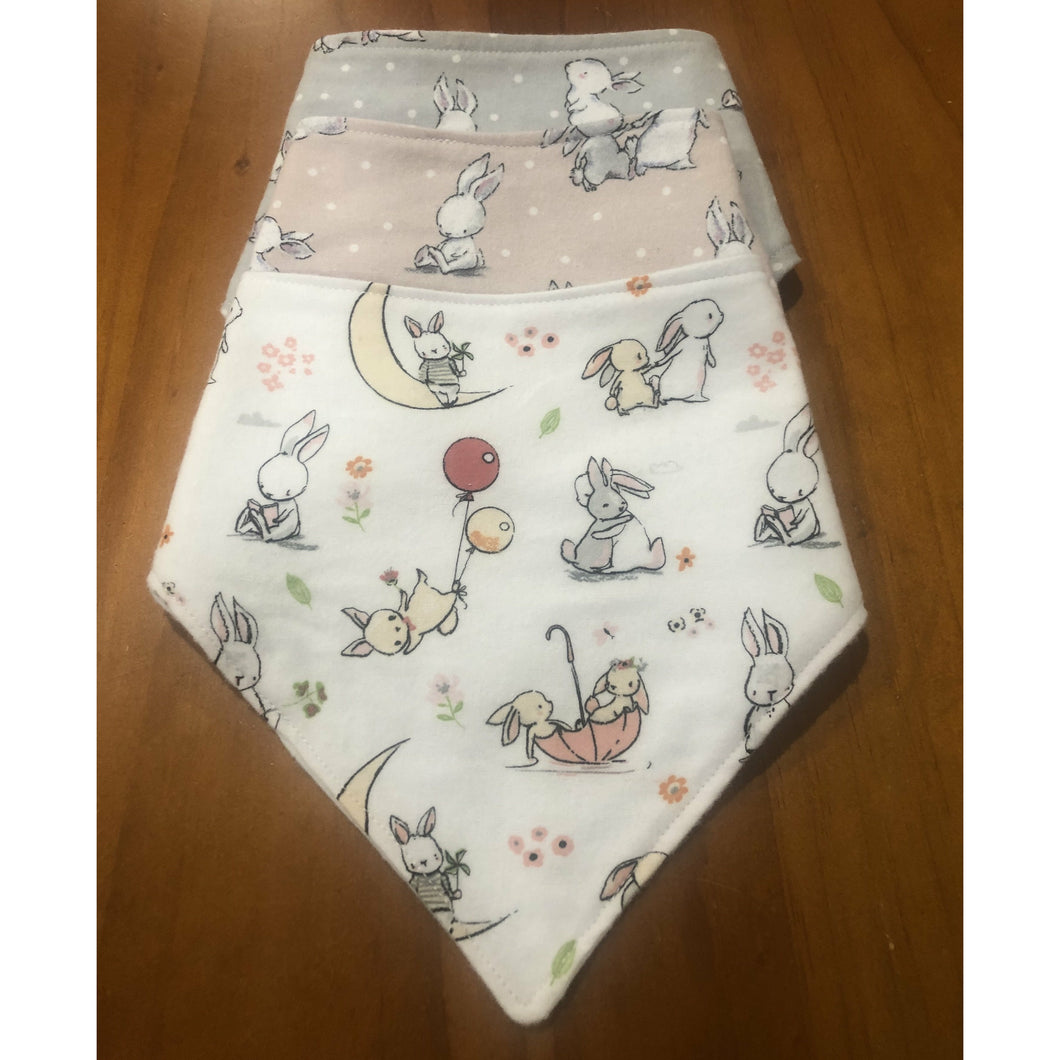 Three pack bunny bibs - Australian made