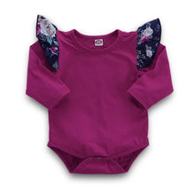 Load image into Gallery viewer, Toddler Ruffle Shirt with floral pants and headband