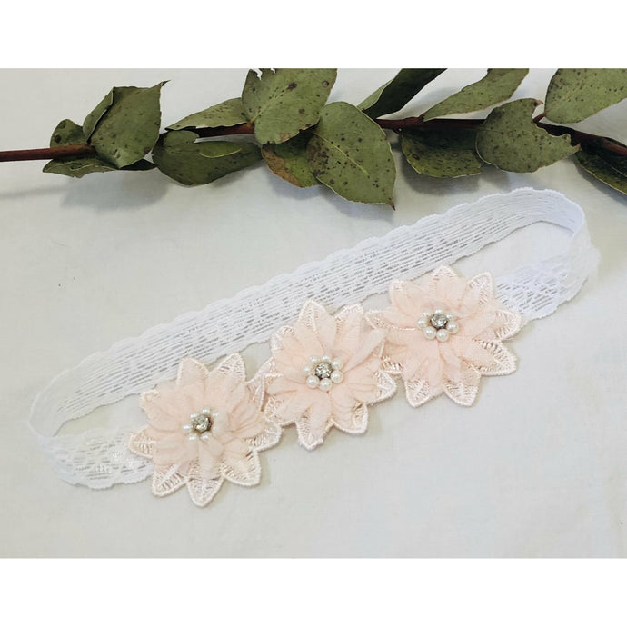 Lace Hair Flower Pink